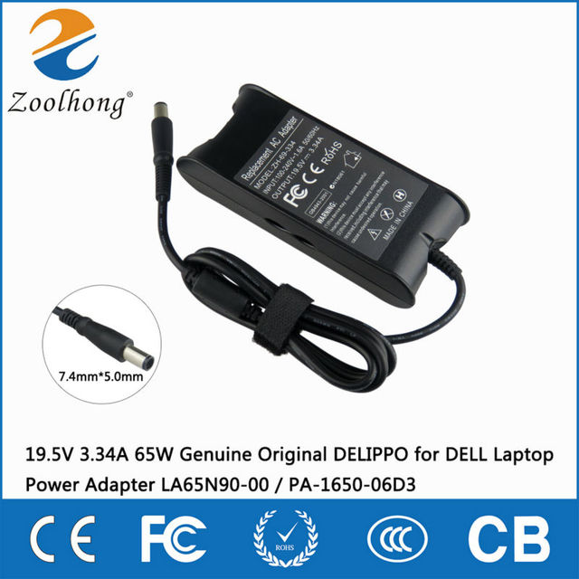 19.5V 3.34A 65W AC laptop power adapter charger for DELL Latitude D500 D505 D510 D520 D530 D531 D600 D610 D620 7.4mm * 5.0mm