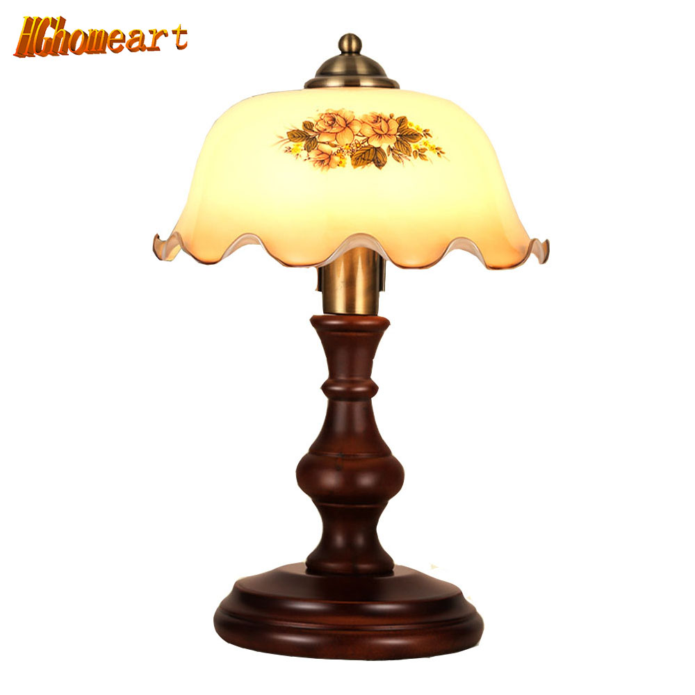 Antique wood table lamps - Nordic Style Wooden Table Lamp Led Living Room Bedroom Children S Room Eye Reading Energy Saving