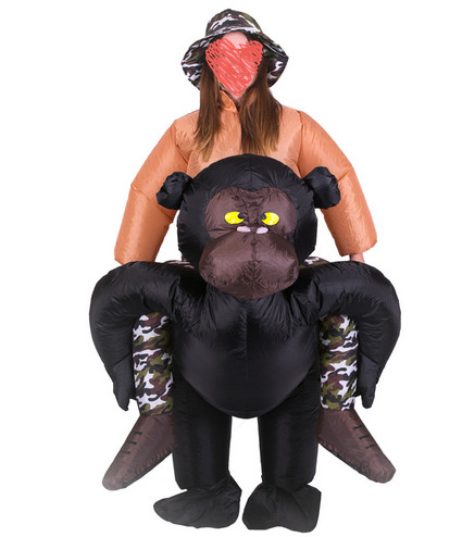 aliexpresscom buy inflatable gorilla funny halloween costumes halloween realistic gorilla suit mascot 15 2m inflatable gorilla costume adult from