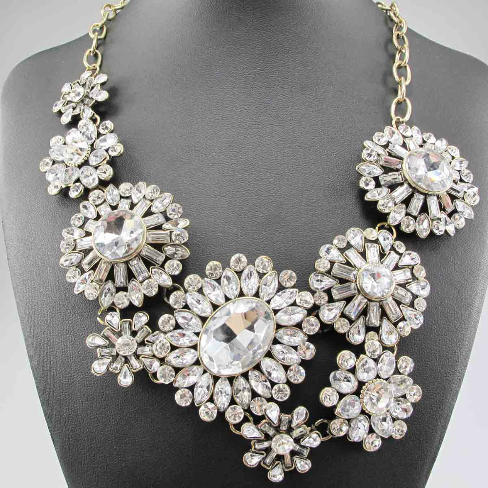 Newest Gorgeous Fashion Necklace Snow White Jewelry crystal ra ...