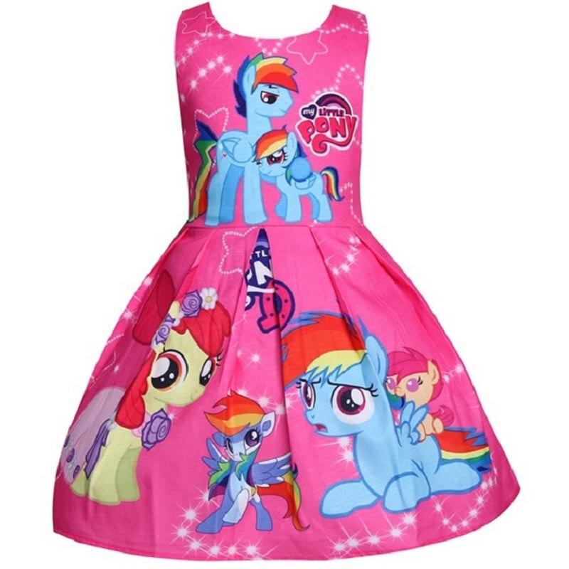 Summer Girls Cosplay My Princess Dress little pony Costume Children clothes Kids dresses For girls Halloween Birthday clothing