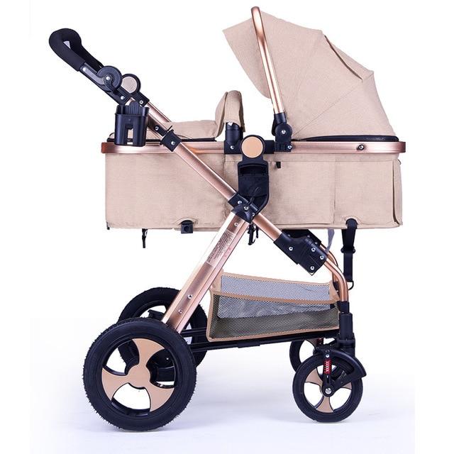 Baby Stroller 3 In 1 High Landscape Baby Stroller Newborn Baby Car Seat Cradle Baby Carriage Travel System Car Seat Stroller 2