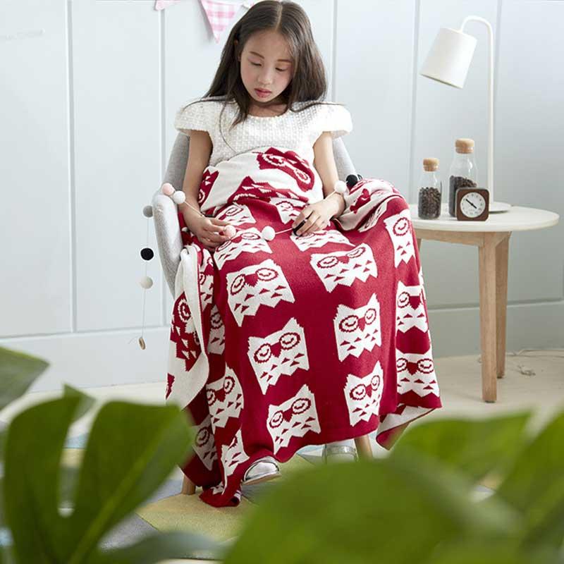 100% coton à tricoter bébé couverture nouveau-né mignon dessin animé multifonctionnel Samll couvertures literie tricot photographie accessoires 90*110 cm
