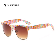 SUERTREE Sunglasses Classic Half Frame UV400 Protection Sun Glasses Fashion Trend Designer Style Shades For Men Women JH1606