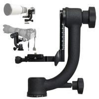 Gimbal Tripod Head Heavy Duty with Arca Swiss Standard Quick Release Plate for Nikon Canon Sony Fujifilm DSLR Cameras