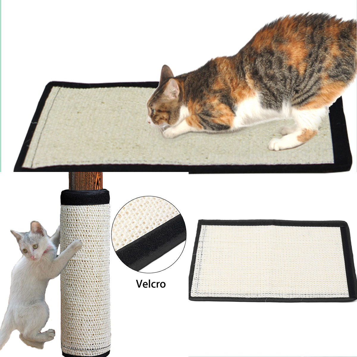 Cat Scratch Toy Catnip Sisal Hemp Kitten Cat Scratching Post Training Toy Sofa Wall Corner Scratcher Pad Mat Board