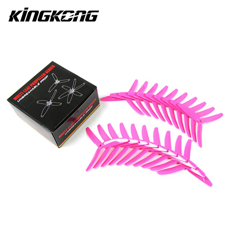 10 Pairs Kingkong 5040 5x4x3 3-Blade Single Color CW CCW Propellers Blade For FPV Quadcopter Racing RC Drones Racing Frame Kit 16pcs 8 pairs 10 blade propeller 1045 brushless motor for qav250 dron drones drone frame parts kit fpv quadcopter frame