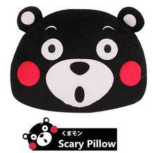 2016 New Anime Japan Mascot Kumamon Bear Plush Pillow Adorable Cartoon Black Bear Head Soft Stuffed Plush Dolls For Best Gifts