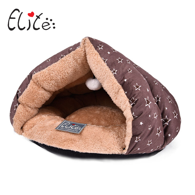 Elite Cat House Soft Pet Bed Suede Sleeping House Washable Cute Cat Cave Kitten Bed Windproof Kennel For Dog Cats Supplies