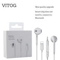 Iluminación auricular con micrófono auriculares estéreo con cable para el iPhone de Apple 8 7 Plus X XS MAX XR iPod auriculares con cable Lightning