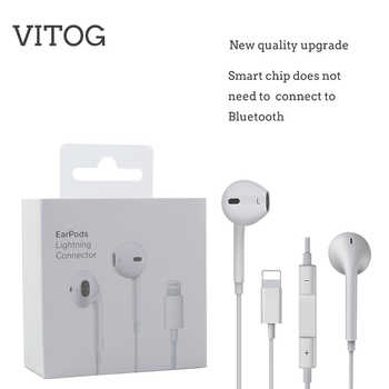Lighting Earphone with microphone Wired Stereo Earphones for Apple iPhone 8 7 Plus X XS MAX XR  iPod Wired Earphone Lightning - DISCOUNT ITEM  8% OFF All Category