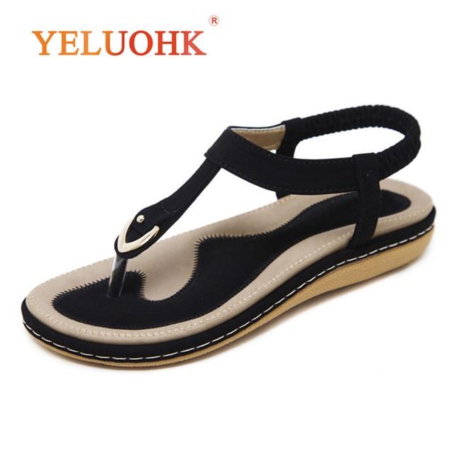 35-45 Summer Sandals Women Comfortable 2018 Summer Women Sandals Flat Big Size sale cost 0bV3ypfGQ