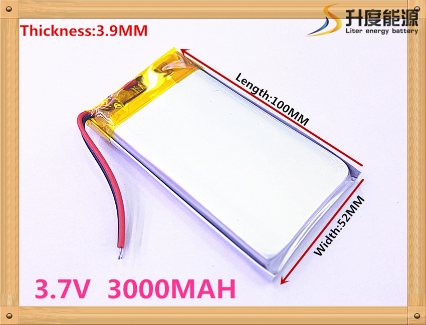 best battery brand A new article 3.7 V lithium Tablet polymer battery 3000mah 3952100 ma tablet battery
