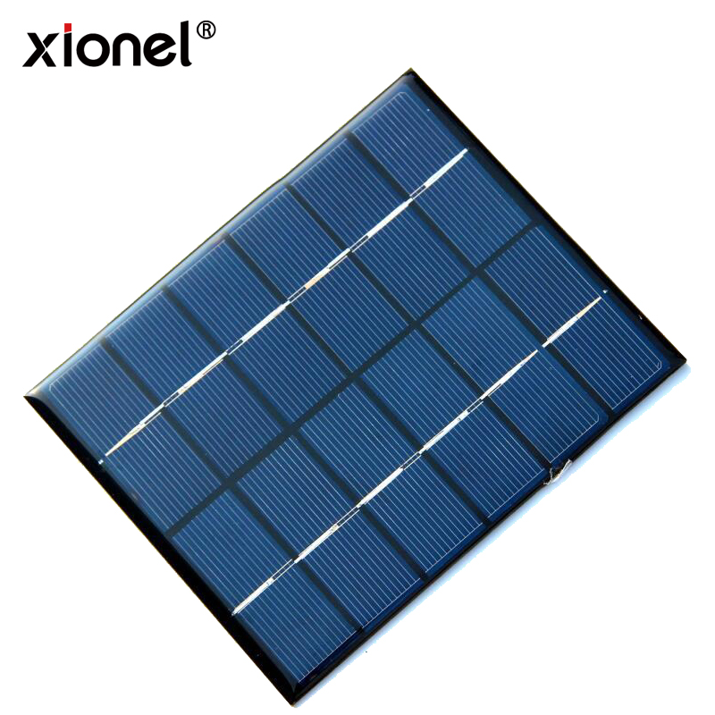 Xionel 2W 6V Mini Solar Panel Module Solar System Kits Polycrystalline Cells Outdoor Camping Battery Charger DIY Parts 110x136mm