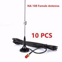 10 PCS Na Dual band UT 108 SMA Female mobile antenna for baofeng UV 5R 888S two way radio radio VHF UHF 144/430MHz