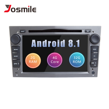 Josmile 2 Din Android 8,1 Авторадио DVD мультимедиа для Opel Zafira B Vectra C Vivaro Astra H G J Meriva Corsa C D навигации