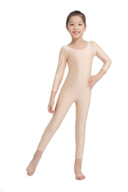 282ce88e3638 SPEERISE Children Fresh Long Sleeve Unitard Skin Tight Jumpsuit Spandex  Lycra Full Body Scoop Neck Ballet