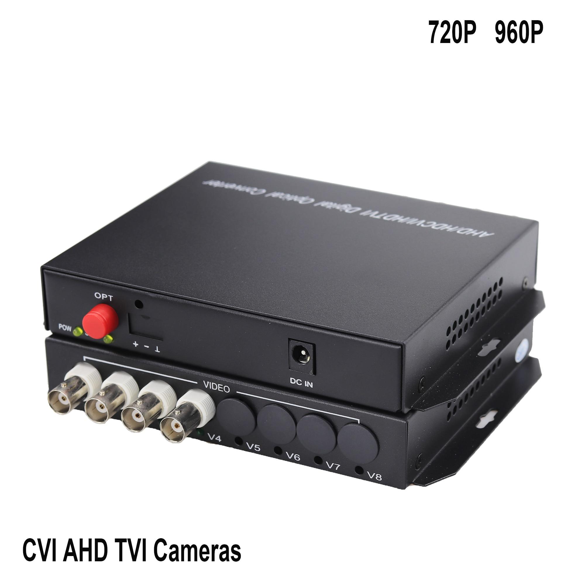 20KM AHD CVI TVI Video Fiber Optical Converter 4 CHannel HD 720P 960P Video Optical Transceiver цена и фото