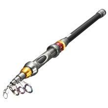 Carbon Fiber 1.8M 2.1M 2.4M 2.7M 3.0M 3.6M Telescopic Spinning Rock Fishing Rod Pole Travel Sea Boat Carp Fishing Tackle Tool