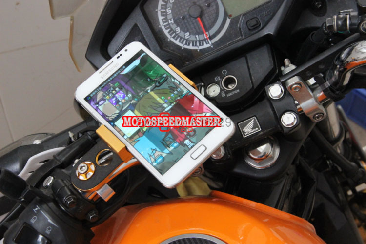 Motorcycle GW250 phone holder mirage aluminum bracket of navigation navigator holder-1565978562.jpg