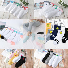 Spring summer 10 Pairs/lot women cotton Socks casual Striped letters Short Ankle Breathable Invisible socks Clearance