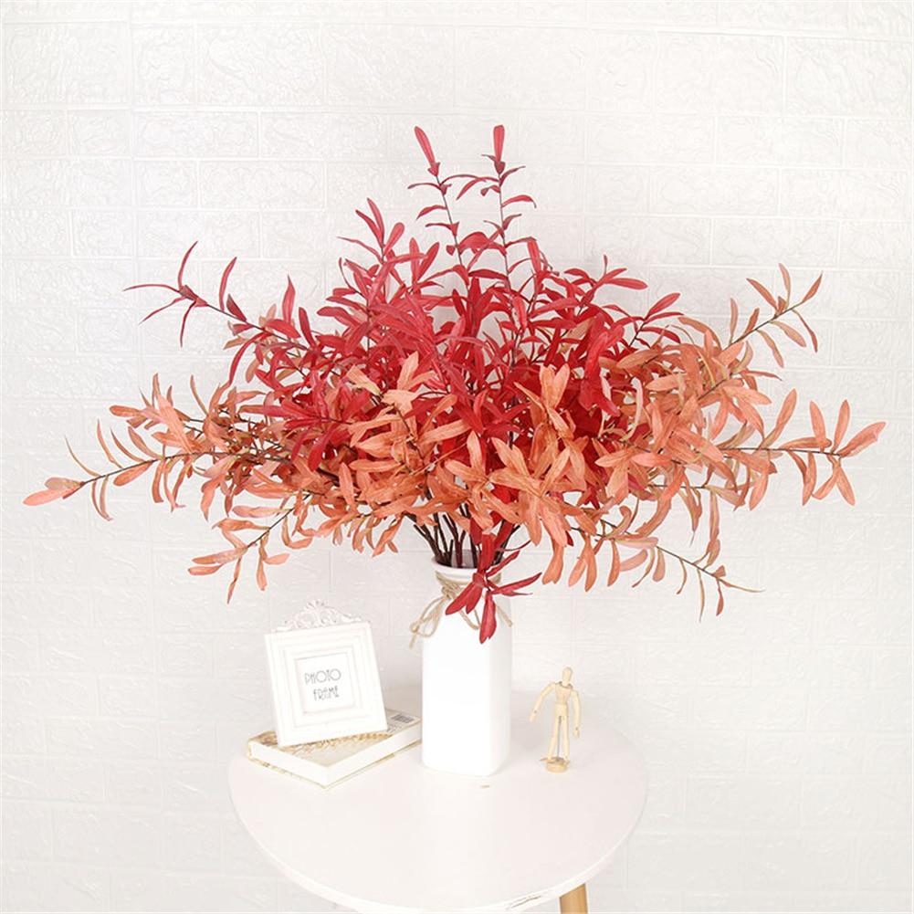 Simulation Olive 10 Branch Maple Leaf Plastic Bouquet Fake Landscape Plant