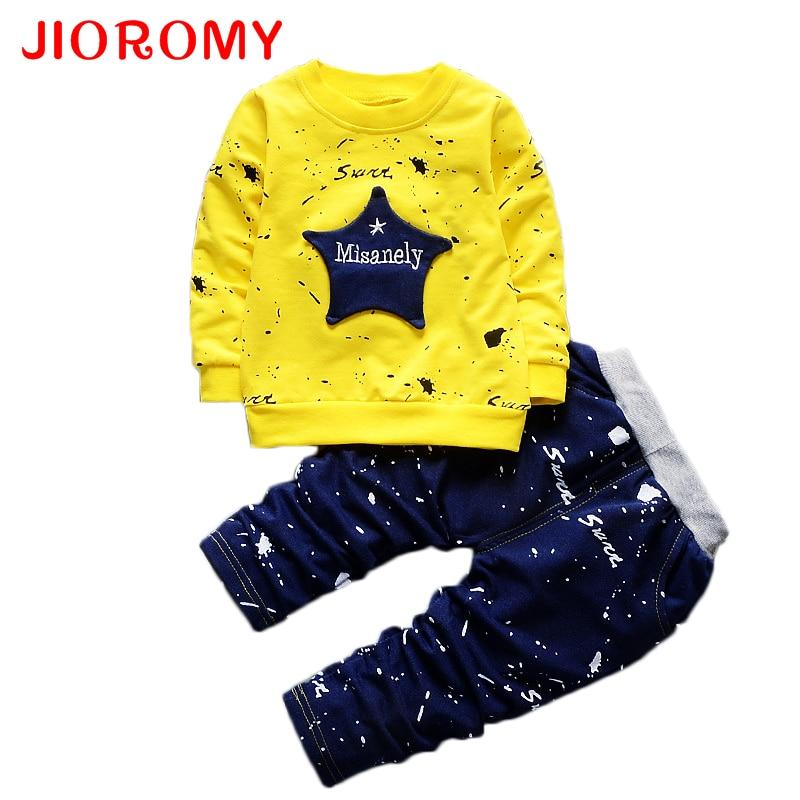 JIOROMY Children's Clothing Set 2017 Autumn Boys Clothes 2 Coats for Autumn Boys Girls Set 1-4 Years Old Children's Suit k1