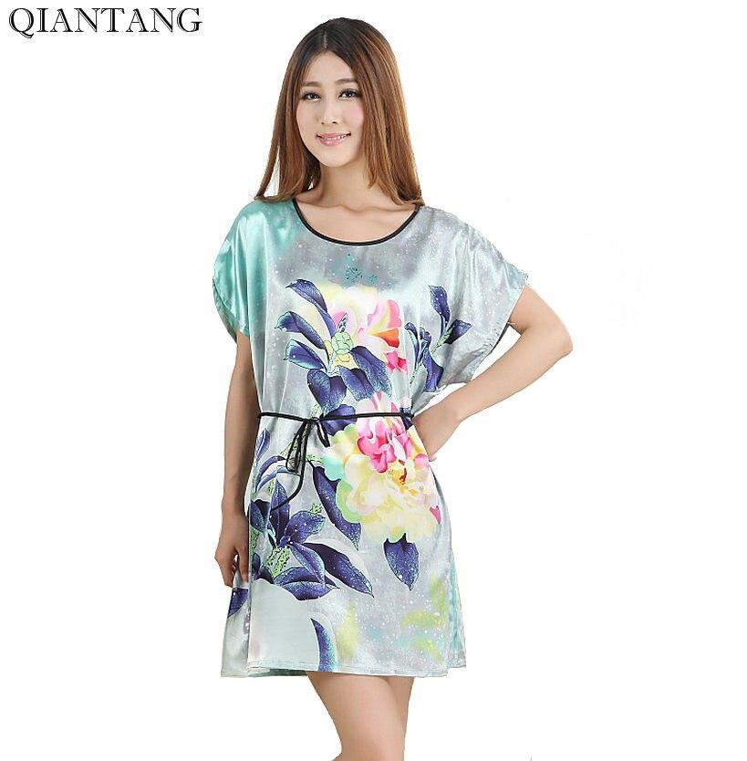 Heißer Verkauf Dame Sommer Robe Chinesischen Frauen Silk Rayon ...