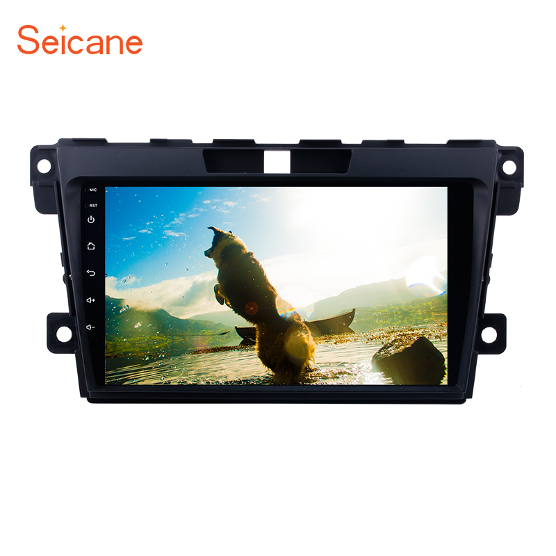 Seicane 2Din Android 6.0/7.1 9 inch Car Radio GPS Navigation Stereo Multimedia Player Head Unit For 2007-2014 MAZDA CX-7 цена