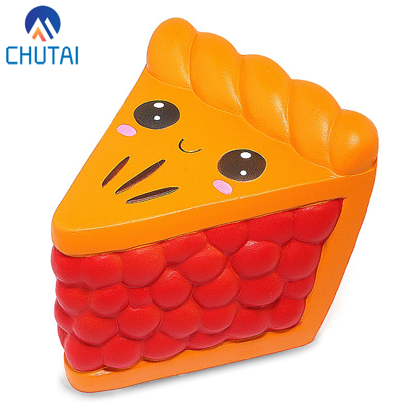 2019 New Arrival Cartoon Jumbo Kawaii Squishy Chocolate Short Cake Squishies Cream Scented Slow Rising Kids Toys 12*10CM