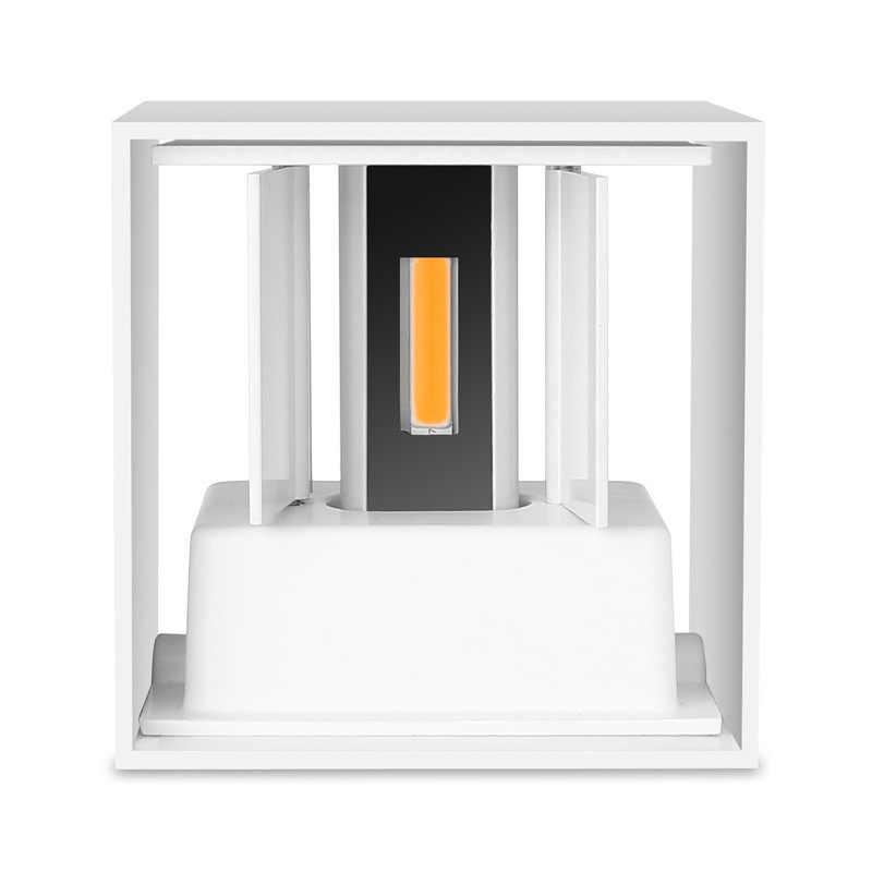 QLTEG 6 Вт 12 Вт светодиодный настенный светильник Открытый водонепроницаемый IP65 современный скандинавский стиль Крытый настенный светильник гостиная крыльцо сад лампа AC90-260V