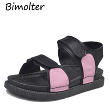 Bimolter 2019 Summer Gladiator Sandals Fashion Women Casual Platform Female Comfortable Sneakers Punk Flat Shoes PSEA014