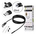 2 m cabo de 5.5mm/7.0mm len com 6led waterprooof android/pc fio endoscópio inspeção micro usb hd câmera de vídeo para laptop/telefone