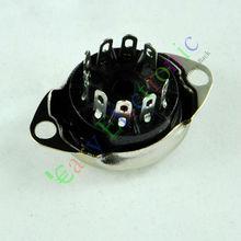 Оптом и в розницу 20 шт. 9 контактный вакуумный разъем для трубки, держатель FR 12AX7 12AU7 ECC82 ECC83, радиозапчасти, бесплатная доставка