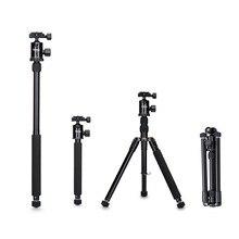 "Selens 150cm/62"" Black Professional Tripod Photography Monopod for DSLR Camera Portable Lightweight Travel Tripode Stand"