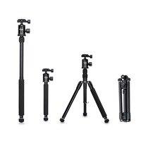 Selens 150cm/62 Black Professional Tripod Photography Monopod for DSLR Camera Portable Lightweight Travel Tripode Stand