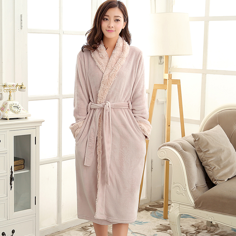 Women Luxury fur Silk Soft Flannel Bathrobe Plus Size Extra Long Bath Robe Bride Dressing Gown Bridesmaid Robes Wedding Peignoir