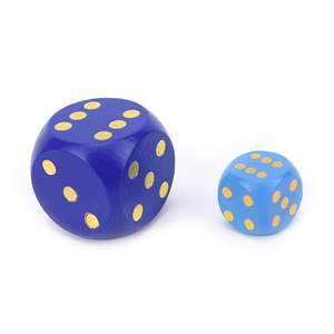 1 PCS Big Size Wooden Dice Cubes Number Or Point Cubes Round Coener Kid Toys Game 6 Sided Dice 50mm,30MM(China)