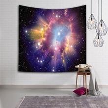 Magnificent Big Bang Nebula Scenery Durable Wall Hanging Starry Aurora Printed Tapestry Yoga Mat Rug Home Decor Art Decoration