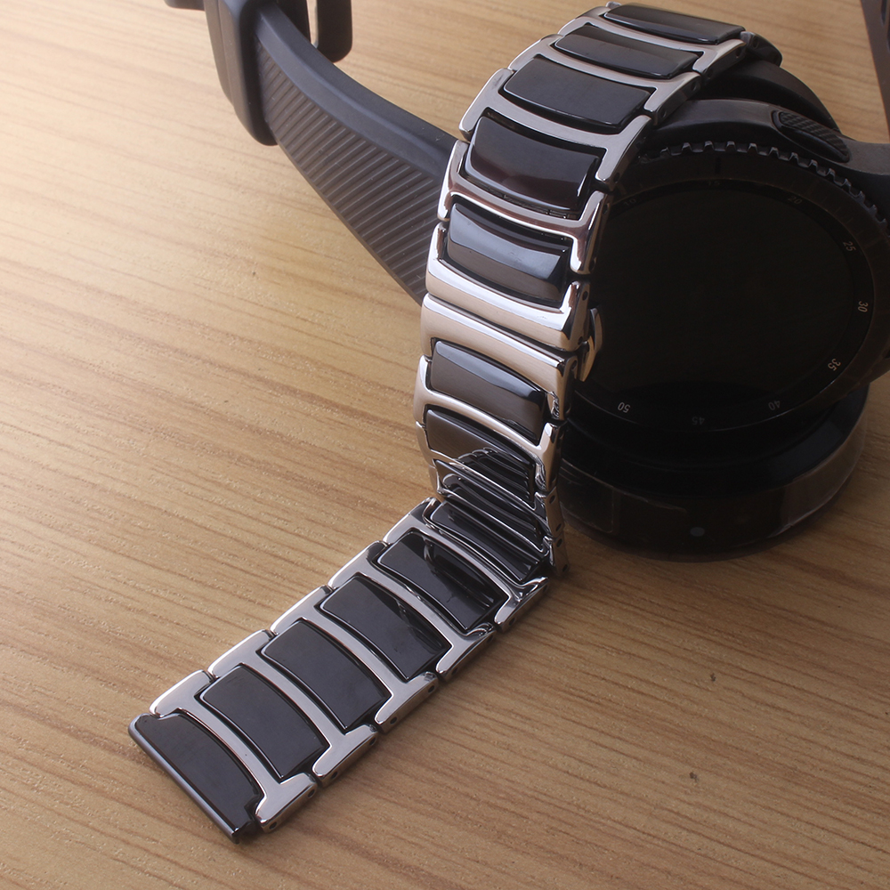 Watchbands stainless steel wrap Pure Ceramic Watch strap for smart wrist watches 20mm 22mm butterfly buckle deployment hot saleWatchbands stainless steel wrap Pure Ceramic Watch strap for smart wrist watches 20mm 22mm butterfly buckle deployment hot sale