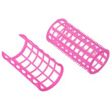 High Quality 10 Pcs Hair Salon Curlers Rollers Pink Soft Large DIY Hairdressing Curling Tools Plastic