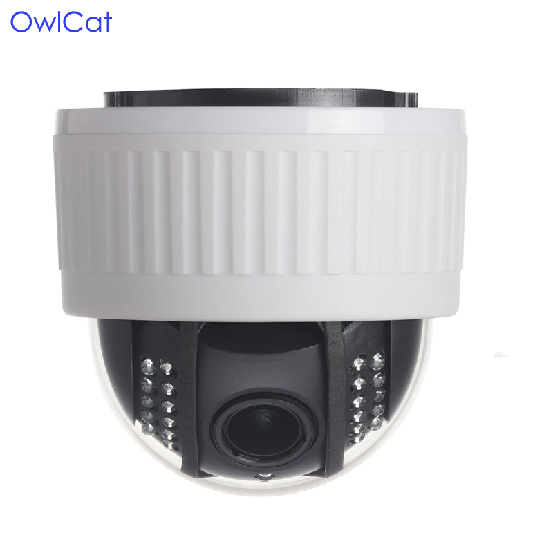 HD 1080P CCTV Dome Security Camera Wifi 2MP PTZ Zoom x5 with 128G SD card slot Night vision Video Audio Recording IP Camera