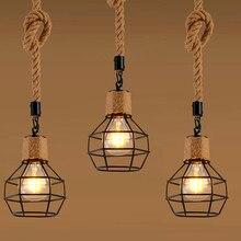 1 шт. подвесной светильник абажур Лофт подвесной светильник для ресторана дома гостиной украшения