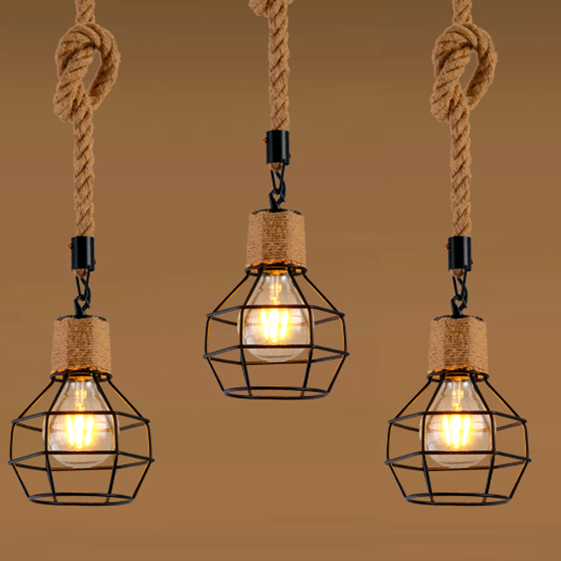 1 Piece Pendant lamp Lampshade Loft Hanging Light for Restaurant Home Living Room Decoration  Without Bulb