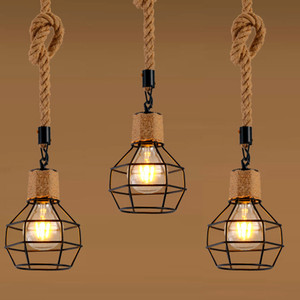 1 Piece Pendant lamp Lampshade Loft Hanging Light for Restaurant Home Living Room Decoration (Without Bulb)