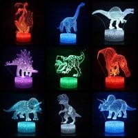 3D Night Lamp Dinosaur USB Night Light Multicolor Lava LED Lighting Luminaria Table Kids Christmas Gifts Home Deacorative