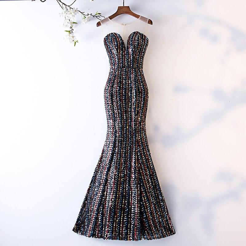 Do Dower Noble Luxury Handmade Mermaid Evening Dresses Fashion Long Classic Sequin Shining Party Prom Dress