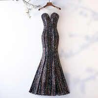 Do Dower Noble Luxury Handmade Mermaid Evening Dresses Fashion Long Classic Sequin Shining Party Prom Dress Vestidos De Festa L