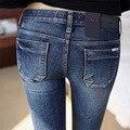 2017 nova primavera Sexy Slim calças de Brim Elásticas Calças Skinny Calças Fit Lady jeans moda Feminina lager tamanho calças jeans mulheres calças de brim