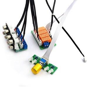Image 5 - Lusya röle 4 yönlü ses giriş sinyali seçici anahtarlama RCA ses anahtarı giriş seçimi bitmiş kurulu B9 002